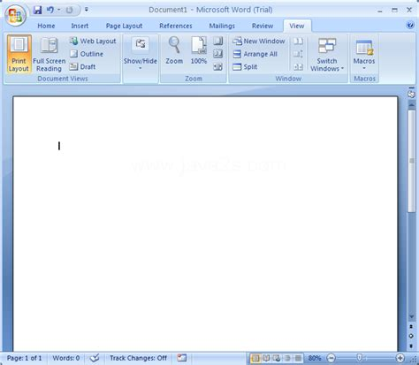 microsoft office word 2007 software application