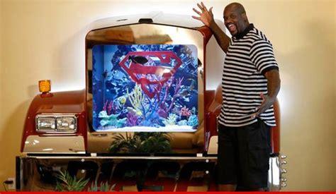 shaq superman bed shaq s awesome big rig tank reefs com