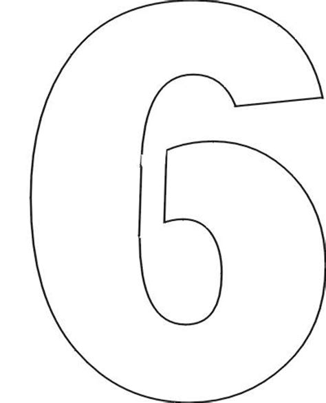 free printable 6 number stencils what does the number six mean in the bible resource