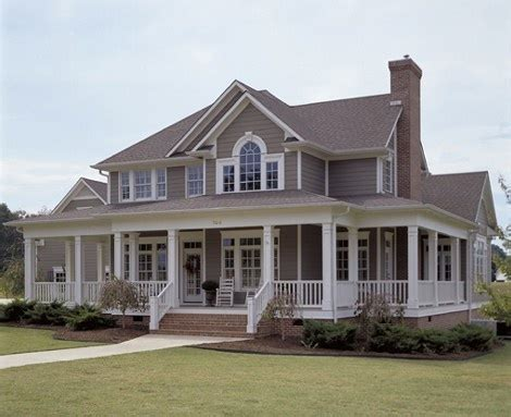 farm house wrap around porch country style pinterest