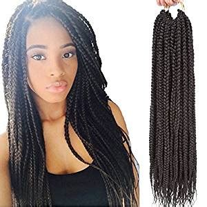 how long does it take for crotchet braids tp cause damage to hair amazon com vrhot 6packs 18 box braids crochet hair