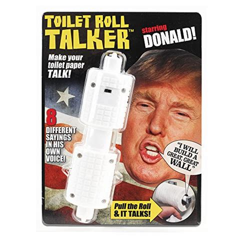 donald trump gifts donald trump toilet roll talker makes regular toilet
