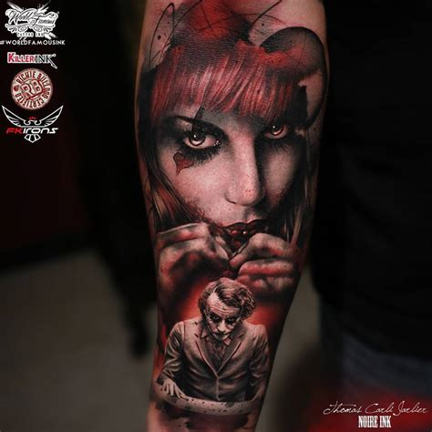 joker tattoo sleeve designs harley quinn and joker best design ideas