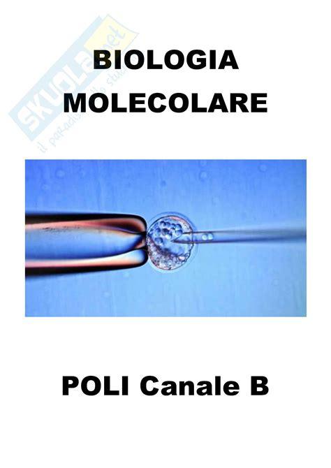 test di biologia molecolare biologia molecolare schemi
