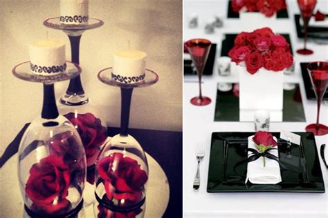black and white table centerpieces wedding decoration ideas white and black table