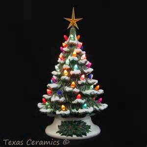 a wish for snow ceramic christmas tree lighted 12 inch