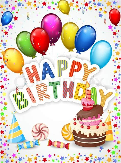 birthday wallpaper with cartoon vector illustration of birthday background with birthday