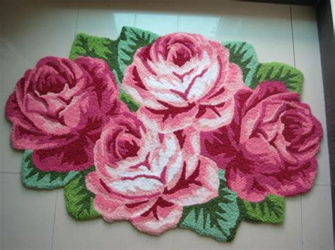pink flower shaped rug free shipping pink floral area rugs door mats handmade shaped embroidery mats bath