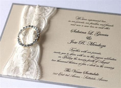 Set 2 In 1 Sabrina Renda sabrina lace wedding invitation couture wedding