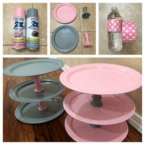 Diy Cupcake Stand Ideas Diy Dollar Store Cupcake Stands Crafty Morning