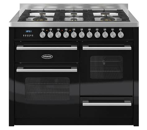 matte black appliances buy britannia delphi 110 rc11xggdek dual fuel range cooker
