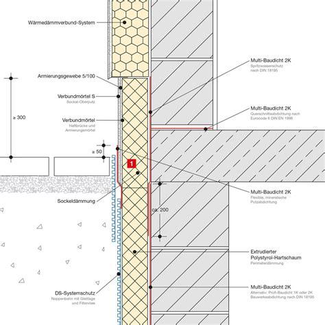 sockel zweischaliges mauerwerk einschaliges mauerwerk mit wdv system unterkellert