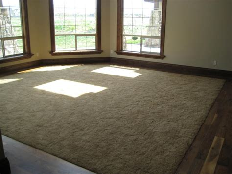 carpet family room custom walnut border from capell