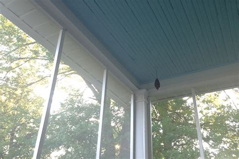 haint blue on the porch ceiling and husbandhannah