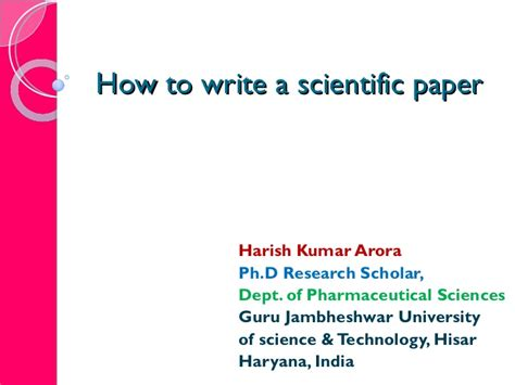 best research paper writing how to write a best research paper