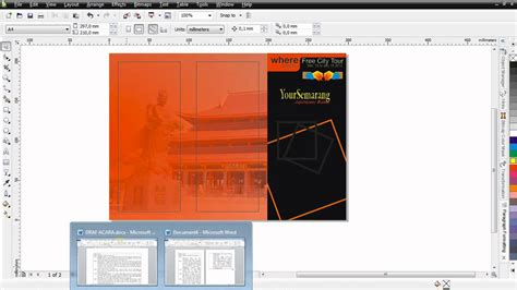 membuat brosur di coreldraw x4 cara membuat brosur lipat 3 coreldraw x4 bag 4 mp4 youtube