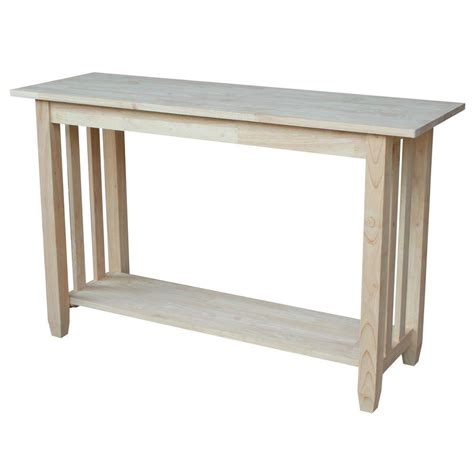 international concepts unfinished console table bj6s the