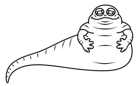 coloring pages jabba the hutt how to draw jabba the hutt from wars