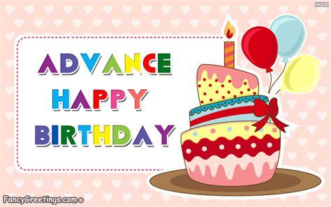 Advance Happy Birthday Wishes To Friend Advance Birthday Wishes Ecard Greeting Card