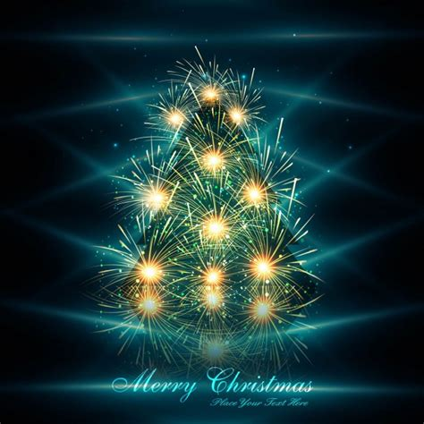 shiny christmas tree background vector free download