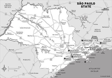 sao paulo state map sights along s 227 o paulo s avenida paulista moon travel guides