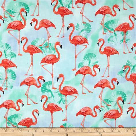 Flamingo Quilt Fabric by Kaufman Flamingo Paradise Flamingos Water Discount