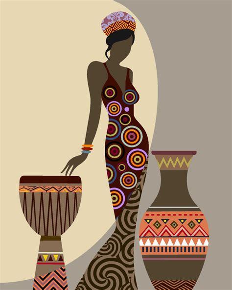 Duvet Sizes Inches African Woman Art Afrocentric Art African Wall Art