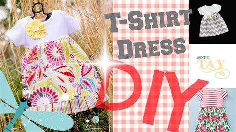DIY Easy T Shirt Dress 2 Minute Tutorials   YouTube