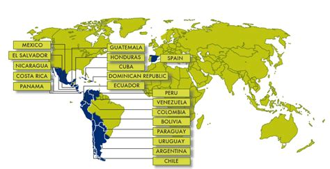 how many speaking countries are there places where is spoken search