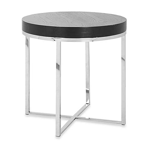 round table anderson safavieh anderson round end table bed bath beyond