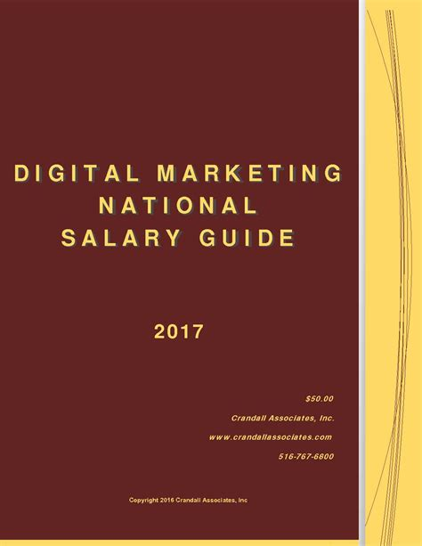handbook of digital marketing books digital marketing national salary guide