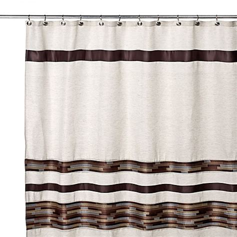 brown bathroom curtains buy brown shower curtains from bed bath beyond