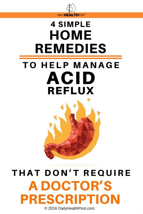 simple home remedies   manage acid reflux