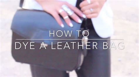 how to dye a leather bag wang trifold