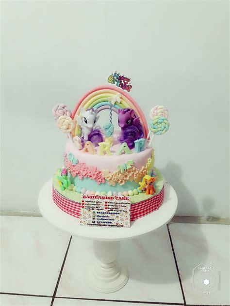 sagitarius cake shop kue ulang   pony fondant