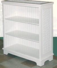 Wicker Bookshelf Bookcase Furniture Rattan Corner Wall White Wicker Bookcase
