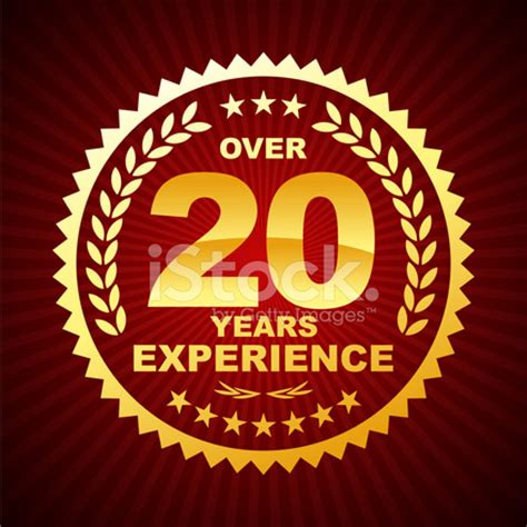 Wso Mba 2 5 Years Work Experience 3 Years by Printover 20 Years Experience Emblem Stock Photos