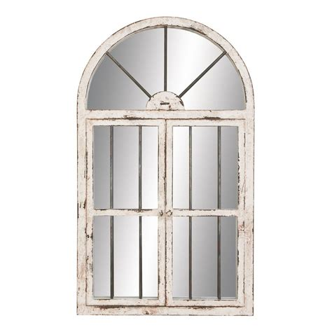 Wall Decor Mirror Home Accents | aspire home accents 74397 42 in arched window wall mirror