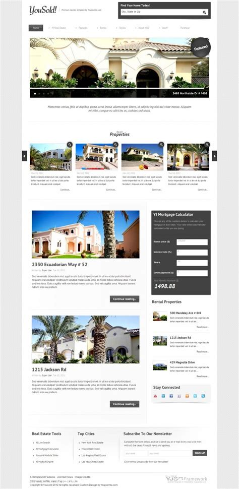 joomla templates real estate realestate joomla templates