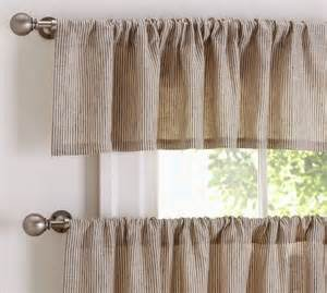 Pottery Barn Kitchen Curtains Mini Stripe Cafe Curtain Pottery Barn For The Home