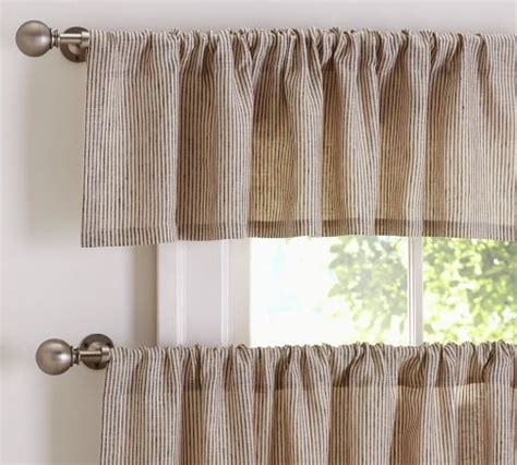 kitchen curtains pottery barn mini stripe cafe curtain pottery barn for the home