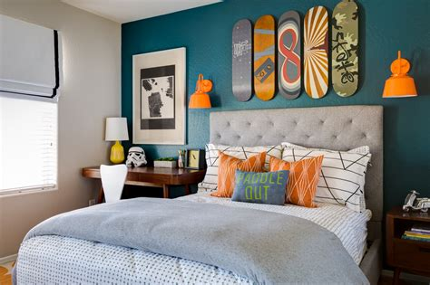 Bedrooms Decorated In by Project Nursery Teal And Orange Skateboarding Bedroom