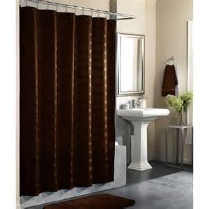 Odyssey solid color shower curtain costa brown bath walmart com