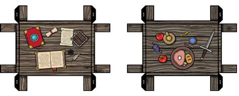 Rpg Papercraft - 3d paper tables papercraft objects and paper miniatures