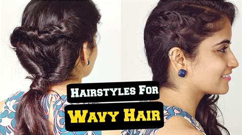 hairstyles for wavy hair for college 2 easy everyday hairstyles for wavy frizzy hair for school