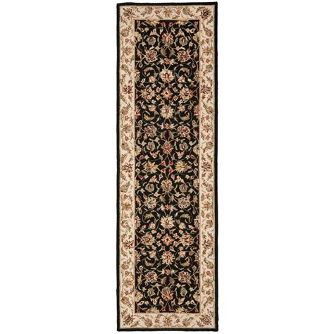 Black Runner Rug Safavieh Chelsea Black 2 Ft 6 In X 8 Ft Rug Runner Hk78a 28 The Home Depot