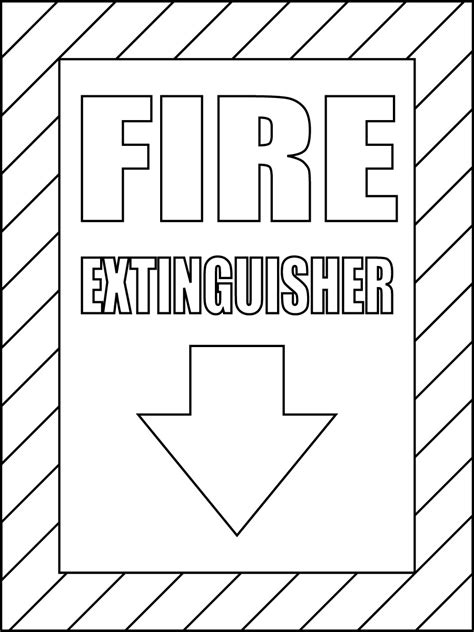 best photos of coloring pictures of fire exits fire exit
