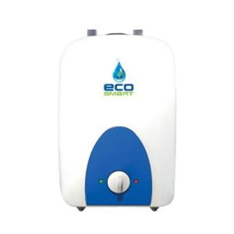 Small Water Heaters Electric Home Depot Ecosmart 1 Gal 1 Year 120 Volt Electric Mini Tank Point