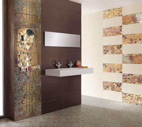 designer bathroom tile gustav klimt s the tiles modern tile new york