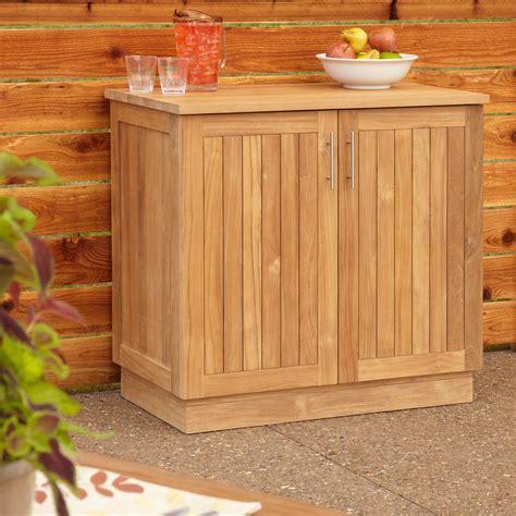 outdoor buffet cabinet 36 quot artois teak outdoor kitchen cabinet